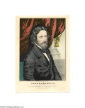 """Political:Small Paper (pre-1896), Unusual John Fremont Campaign Print by Currier 10"""" x 14""""hand-colored small folio lithograph published by Nathaniel Currier..."""