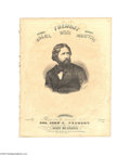 """Political:Small Paper (pre-1896), 1856 Colonel John C. Fremont Sheet Music The Fremont March.""""Composed & Respectively Dedicated to Col. John C. Fremont ..."""