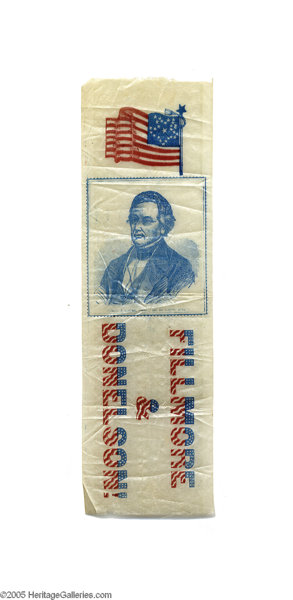 1856 Millard Fillmore Ribbon, One of the First Designs to | Lot