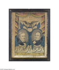 "Political:3D & Other Display (pre-1896), 1856 Millard Fillmore and Andrew Donelson Grand National BannerPrint ""The American's Choice for President and Vice Preside..."