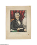 """Political:Small Paper (pre-1896), Extremely Colorful Millard Fillmore for Vice-President Print 13.5""""x 18"""" hand-colored lithograph by Nathaniel Currier, title..."""