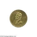 Political:Tokens & Medals, 1861 Abraham Lincoln Inauguration Medal Sullivan-DeWitt AL 1860-32 in gilt brass, 34 mm. This is the only medal issued to c...