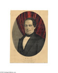 "Political:3D & Other Display (pre-1896), Hannibal Hamlin Vice Presidential Campaign Print 10"" x 14""hand-colored small folio lithograph published by Currier andIves..."