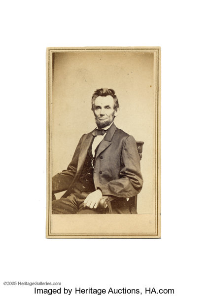 PhotographyCDVs Lincoln Carte De Visite Photograph With Anthony Brady ImprintGorgeous