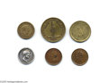 Political:Tokens & Medals, Six Assorted Abraham Lincoln Tokens and Medals This eclectic group contains two Lincoln tokens from 1860, three Lincoln Civi...