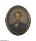 Political:3D & Other Display (pre-1896), Impressive Large 1867-dated Abraham Lincoln Chromolithograph Thisdistinctive print technique first appeared during the Civi...