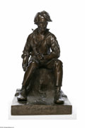 "Political:3D & Other Display (pre-1896), Stunning Large Lincoln Bronze Sculpture This beautiful and substantial work of art stands 22"" high on a base measuring 15"" x..."
