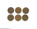 Military & Patriotic:Civil War, Group of Six 1863-1864 George McClellan Tokens These penny-sized medals are considered Civil War Patriotic Tokens, although...