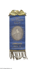 Political:Ribbons & Badges, Neat Circa 1880s George McClellan Civil War Vets Ribbon For those who cannot afford $3,000-plus for an 1864 campaign ribbon...