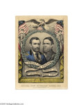 "Political:3D & Other Display (pre-1896), Wonderful U. S. Grant and Schuyler Colfax Grand National Banner Print 10"" x 14"" hand-colored small folio lithograph publishe..."
