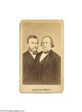 Political:3D & Other Display (pre-1896), U. S. Grant and Henry Wilson Jugate Carte de Visite Co-joined bust portraits of the 1872 Republican candidates on a titled b...