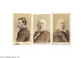 Photography:CDVs, Three Cartes de Visite: Two of Horace Greeley and One of James Gordon Bennett Two CDVs of Horace Greeley, 1811-1872. A jou...