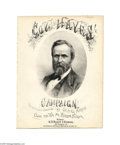 Political:Small Paper (pre-1896), 1876 Rutherford B. Hayes and William Wheeler Sheet Music Veryunusual copy of Clear the Way for Hayes and Wheeler, part...
