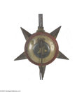 """Political:3D & Other Display (pre-1896), Rare """"Star"""" Parade Torch Elaborate receptacle with five four-panelprojection makes this item look more like a medieval wea..."""
