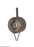 Political:3D & Other Display (pre-1896), Very Unusual Round, Painted Torch Unlisted by Collins, this1870-80s torch has an unusual form and what appears to be origi...