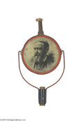 Political:3D & Other Display (pre-1896), 1892 Benjamin Harrison and Whitelaw Reid Parade Torch One of thefew items of the torch genre which actually depicts the ca...