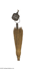 """Political:3D & Other Display (pre-1896), Rare """"Broom Torch"""" with McKinley Portrait Paper Label During the 1880s and 1890s, the broom was a popular political symbol,..."""