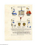 "Political:3D & Other Display (pre-1896), Colorful 1880 Campaign Goods Price List This 9.25"" x 12"" four pageprice list was issued in 1880 by the ""Consolidated Campai..."