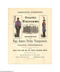 "Political:3D & Other Display (pre-1896), Great Boys in Blue Garfield and Arthur Campaign Goods Price List 8.5"" x 11"" four-page flyer issued by the ""United States Arm..."