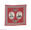 Political:Textile Display (pre-1896), 1880 Garfield and Arthur Jugate Campaign Bandana An interesting textile campaign item in that both candidates shown in the l...