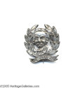 Political:Ferrotypes / Photo Badges (pre-1896), Hancock Diecut Metal Portrait Pin An extremely rare political item:Sullivan WSH 1880-13, 29 mm x 31 mm, a silvered tin she...