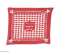 Political:Textile Display (pre-1896), 1888 Benjamin Harrison and Levi Morton Bandana Appealing bold redand white design. Essentially crisp condition, with very ...