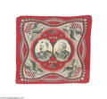 Political:Textile Display (pre-1896), 1888 Cleveland and Thurman Jugate Campaign Bandana A beautifultextile campaign collectible from the unsuccessful 1888 Democ...