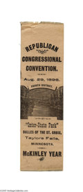 Political:Ribbons & Badges, Unusual 1896 Minnesota Convention Ribbon for William McKinley This is the only example of this distinctive design we have se...