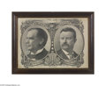 Political:Posters & Broadsides (1896-present), Spectacular Large 1900 William McKinley - Theodore Roosevelt JugatePoster Add color to this dramatic design and you have a...