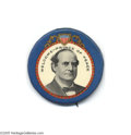 Political:Pinback Buttons (1896-present), Marvellous William Jennings Bryan Button Rarity His electoral battles behind him, Bryan became Woodrow Wilson's first Secre...