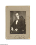 Political:Small Paper (1896-present), William Jennings Bryan Autographed Cabinet Photo One of the mostpopular autographs among political collectors, and especial...