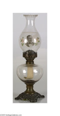 Political:3D & Other Display (1896-present), Ornate Large William Jennings Bryan Kerosene Lamp These lamps can be found with various candidates of the 1880-90s, and are ...