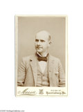 Political:3D & Other Display (1896-present), Spectacular, Virtually Mint, Eugene V. Debs Cabinet Photo A fairlyyouthful image of the great Socialist war horse, probabl...