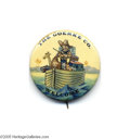 """Political:Pinback Buttons (1896-present), Fabulous and Prohibitively Rare Teddy Roosevelt Cartoon Pin This 1 3/4"""" beauty is one of only two examples of which we are ..."""