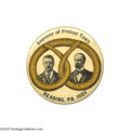 "Political:Pinback Buttons (1896-present), Classic 2 1/8"" Roosevelt - Fairbanks ""Reading Pretzel"" Rarity Oneof the most desired jugate rarities: great design and su..."