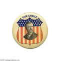 "Political:Pinback Buttons (1896-present), Spectacular Large 2 1/8"" Teddy Roosevelt Button The impact of thisbold red white and blue beauty cannot be overstated; it w..."