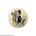 Political:Pinback Buttons (1896-present), The Sought-after 1904 Theodore Roosevelt and Charles FairbanksCartoon Jugate by the Creator of the Teddy Bear Clifford Ber...