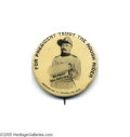 """Political:Pinback Buttons (1896-present), One of the Top Teddy Roosevelt Campaign Buttons This 1 1/2"""" prize was formerly in the legendary U. I. """"Chick"""" Harris Collec..."""