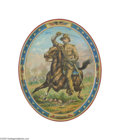Political:3D & Other Display (1896-present), Classic Theodore Roosevelt Rough Rider Litho Tin Serving TrayAlthough not terribly rare, these colorful trays are such grea...