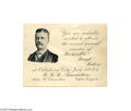 """Political:Small Paper (1896-present), Unusual Theodore Roosevelt Rough Rider Invitation We have not seen this 4"""" x 3"""" card before. It invites the recipient to a..."""