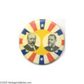 """Political:Pinback Buttons (1896-present), Stunning Possibly Unique Large 1 3/4"""" Parker - Davis Jugate While this and similar designs were used for various jugates of ..."""