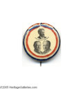 "Political:Pinback Buttons (1896-present), Great 1908 Taft and Sherman Trigate Button with Roscoe Conkling This 1 1/4"" trigate is very rare, but we have seen it offere..."