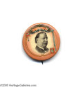 "Political:Pinback Buttons (1896-present), Gorgeous and Rare 1 1/4"" 1908 William Howard Taft Button byAmerican Artworks This Coshocton, Ohio company produced some of ..."