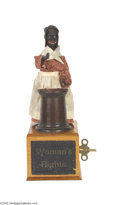 Antiques:Black Americana, Marvelous Extremely Rare Ives Sojourner Truth Mechanical ClockworkToy with Original Box E. R. Ives and Company operated in ...