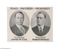 Political:Posters & Broadsides (1896-present), Key 1920 Cox and Roosevelt Jugate Poster For those who cannot afford $20,000 plus for a jugate button showing these two, a p...