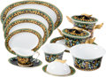 Luxury Accessories:Home, Versace Set of 11: Gold Ivy Servingware. Condition: 1. ...(Total: 11 Items)