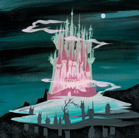 Mary Blair Cinderella King's Castle Concept Painting (Walt Disney, 1950)