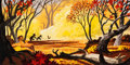 Animation Art:Concept Art, Mary Blair Song of the South Georgia Forest Concept Painting (Walt Disney, 1946)....