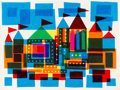 Animation Art:Concept Art, Mary Blair It's a Small World Collage Design (Walt Disney,1964). ...