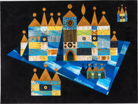 Mary Blair It's a Small World Concept Painting (Walt Disney, 1964)